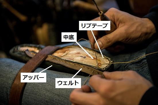 ウエット交換(リウェルト)のすくい縫い