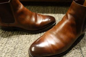 Crockett&Jones | クロケット&ジョーンズ | 修理 | サイドゴア | ゴム交換 | 爪先色補修