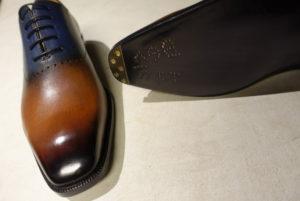 Berlutiの爪先スチール 修理